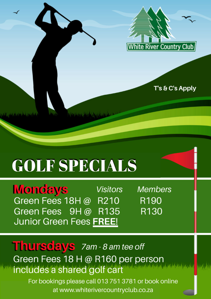 Monday Specials @ White River Country Club