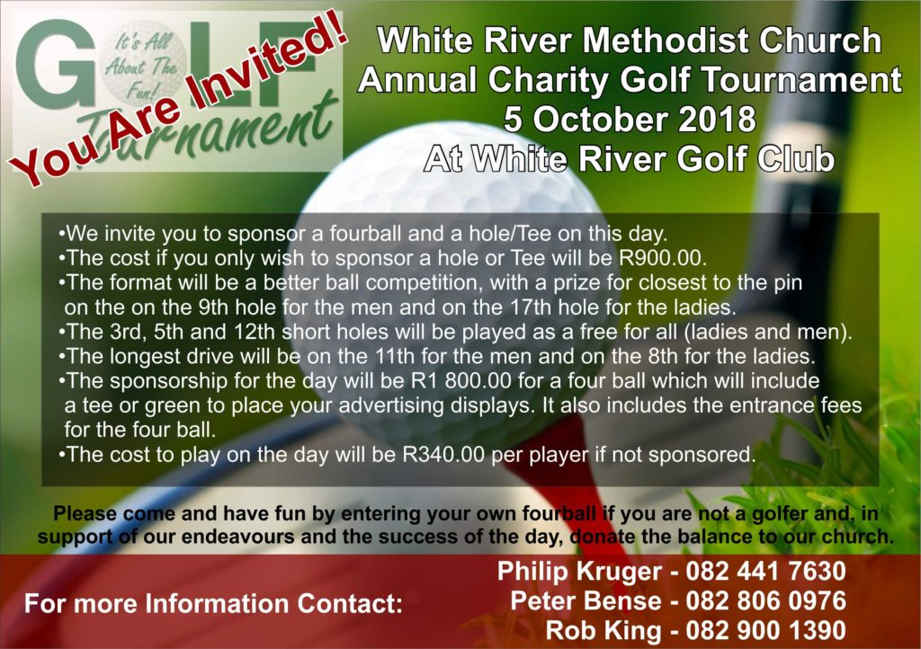 Methodist Church Golf Day @ White River Country Club